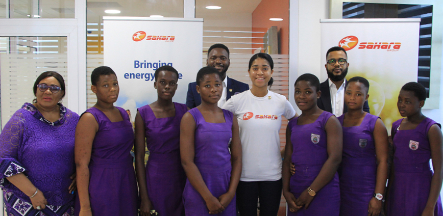 Zuriel Oduwole photographed at her unveiling in our Ghana Office