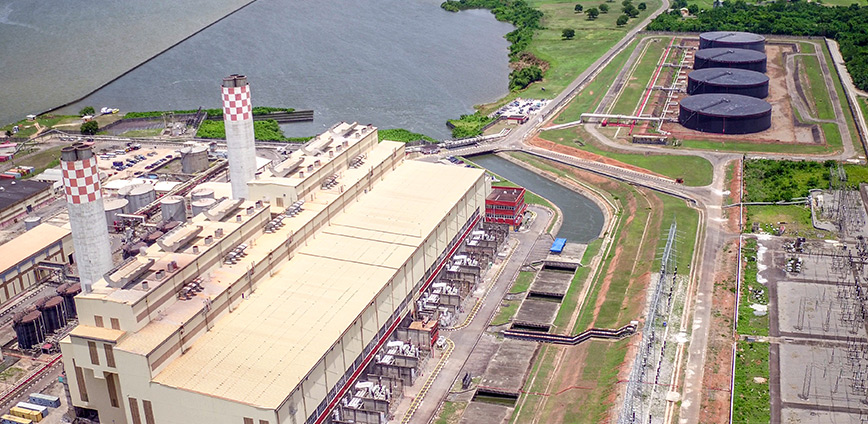 Aeriel view of a section of Egbin Power Plant