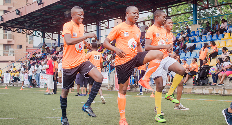 Participants warming up at the 2016 Games