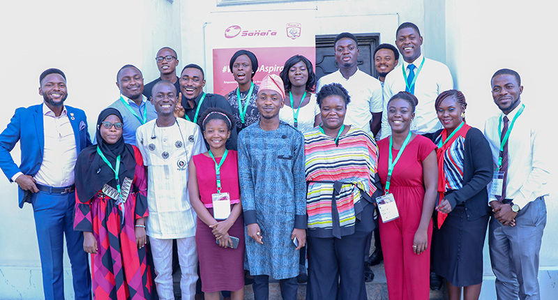 Beneficiaries of #StartUpNation photographed with the organizers in Lagos, Nigeria.